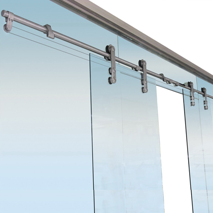 Synchronous set for double sliding doors