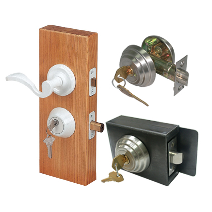 Lever Lock Kits & Deadbolt With Metal Box